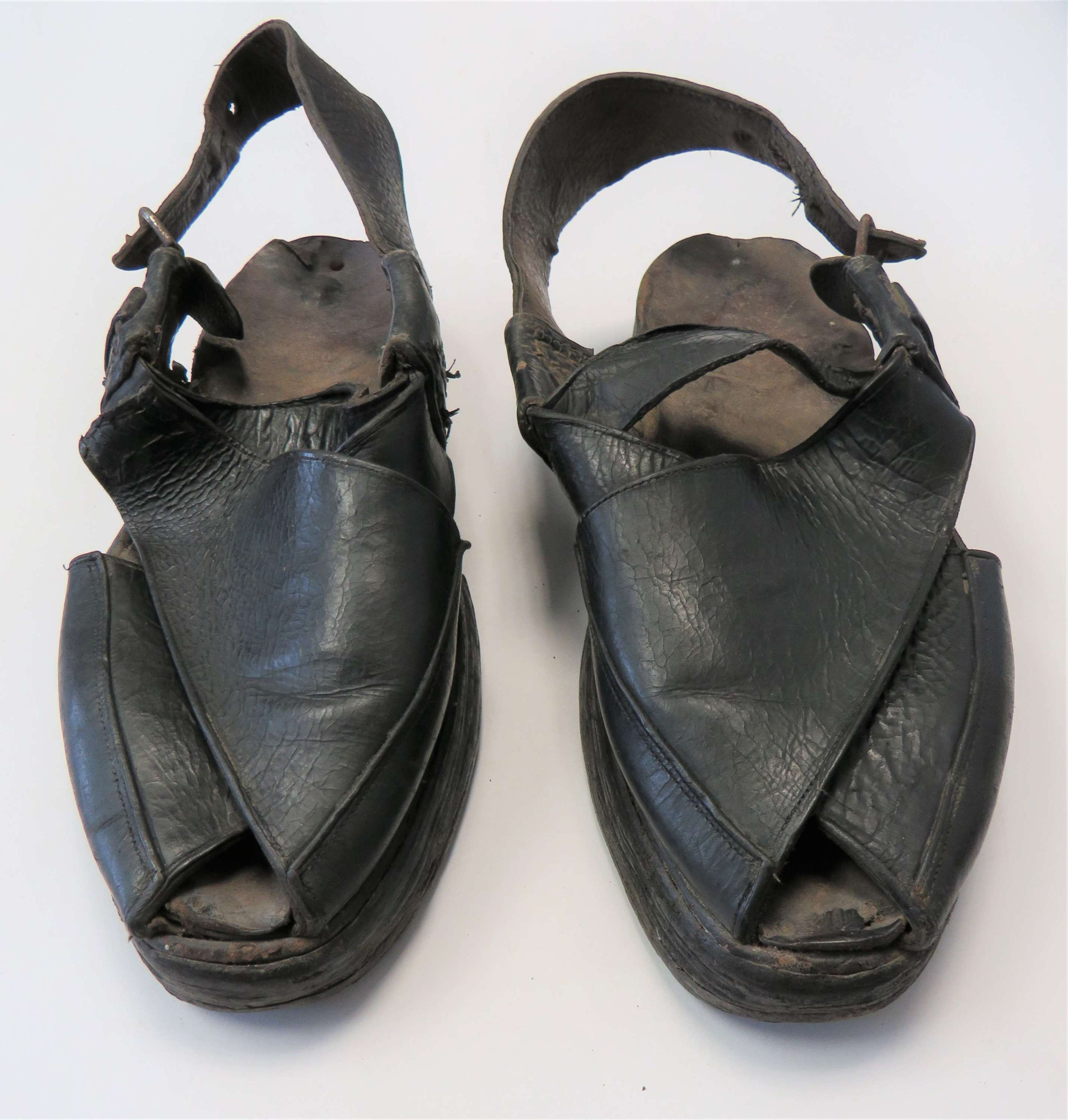 Scarce Pair of Indian Officers Sandals