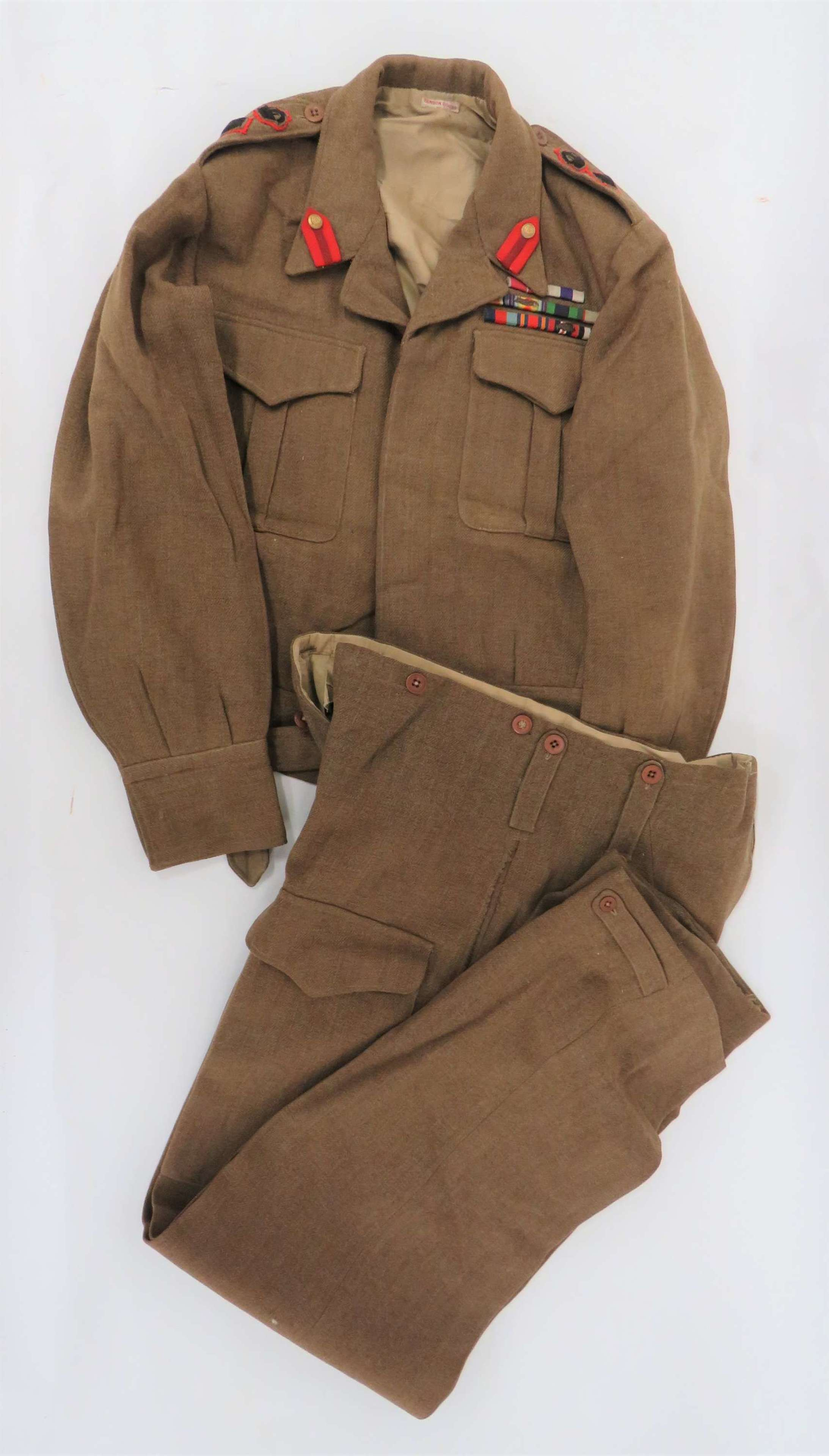 Superb 1937 Pattern Staff Officers Battledress Tunic and Trousers