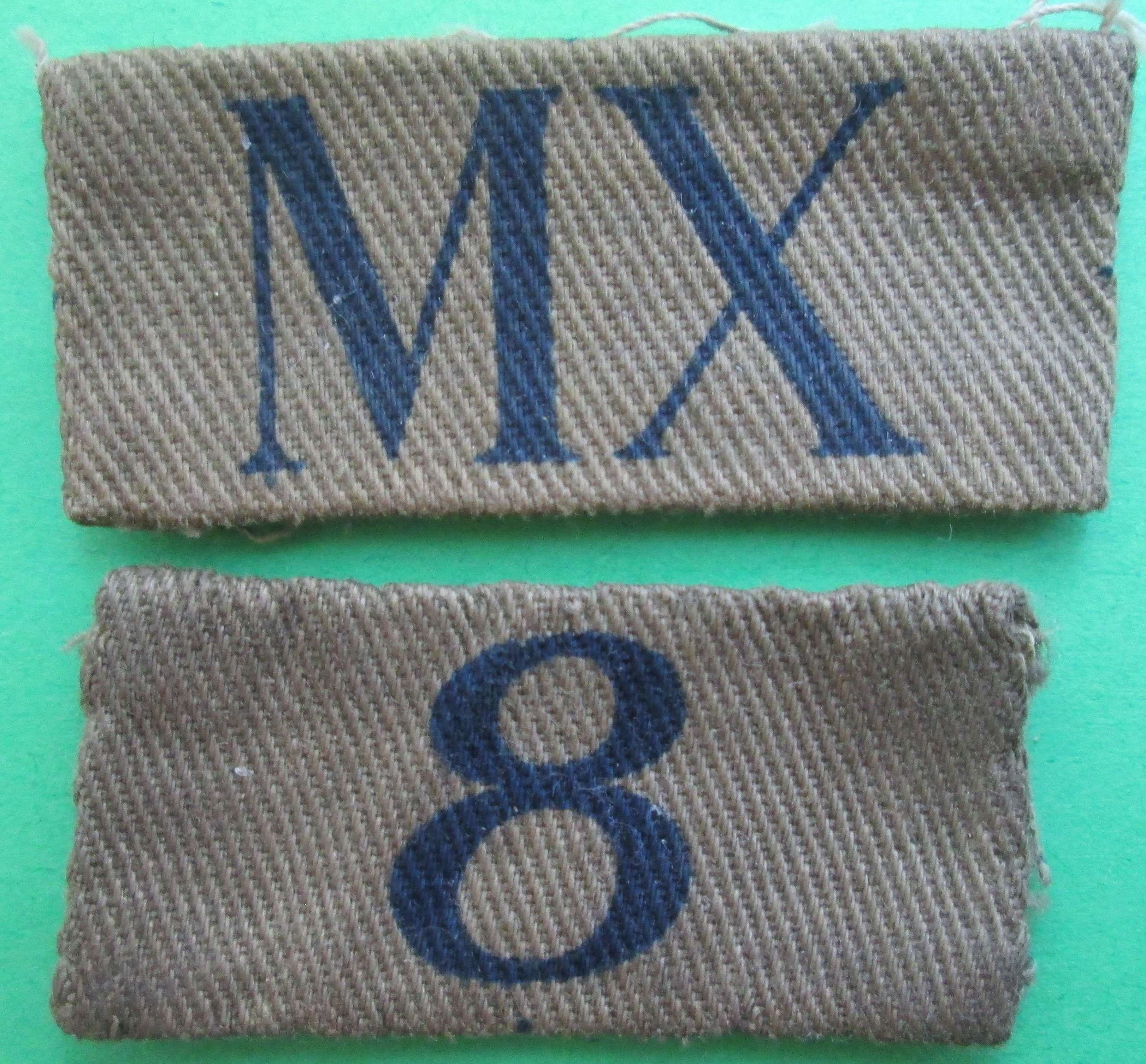 A HOME GUARD AREA DESIGNATION FLASH FOR MIDDLESEX