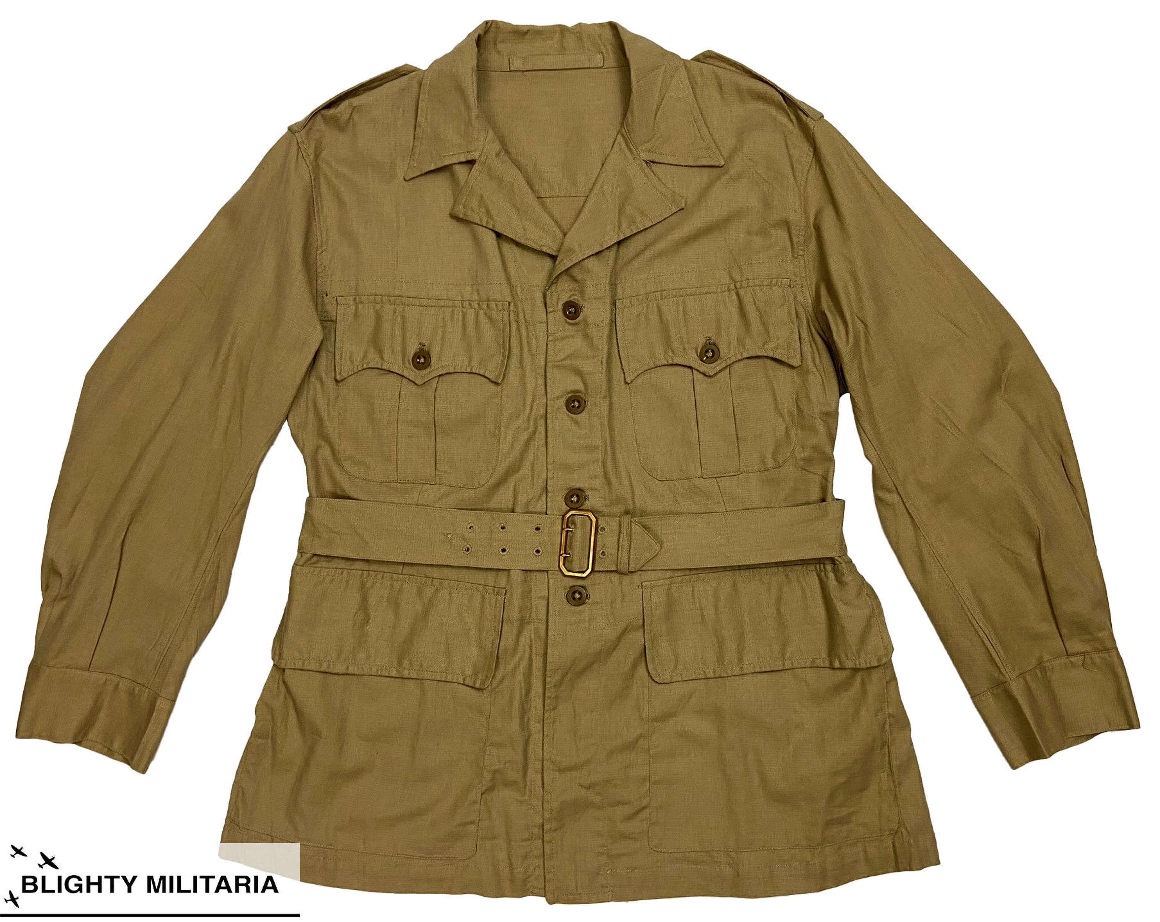 Original 1953 Dated 1950 Pattern Khaki Drill Bush Jacket - Size 10