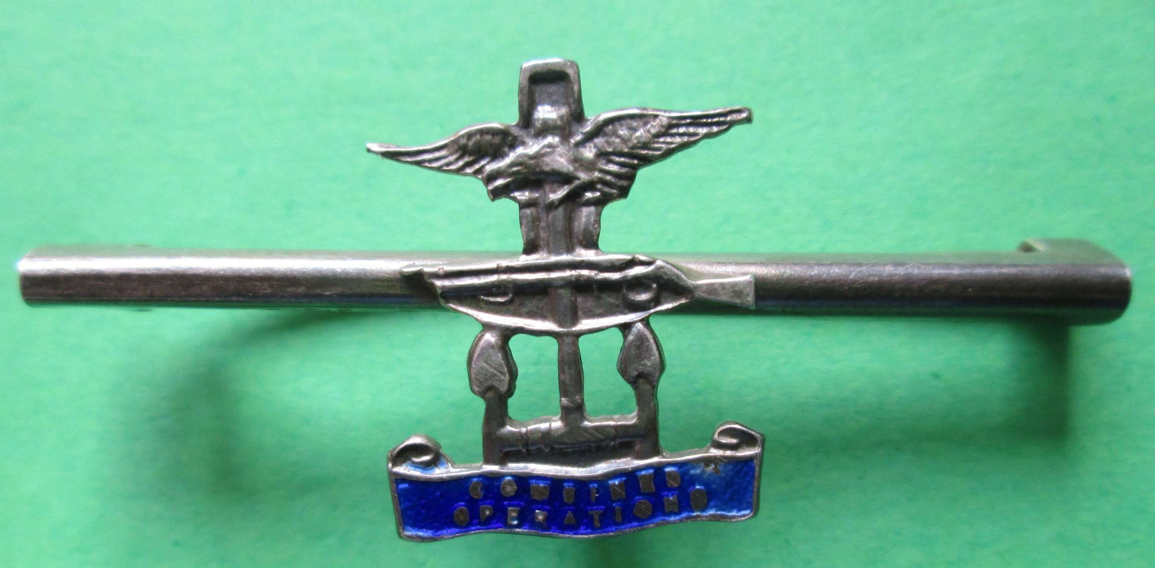 SILVER COMBINED OPERATIONS SWEETHEART BROOCH