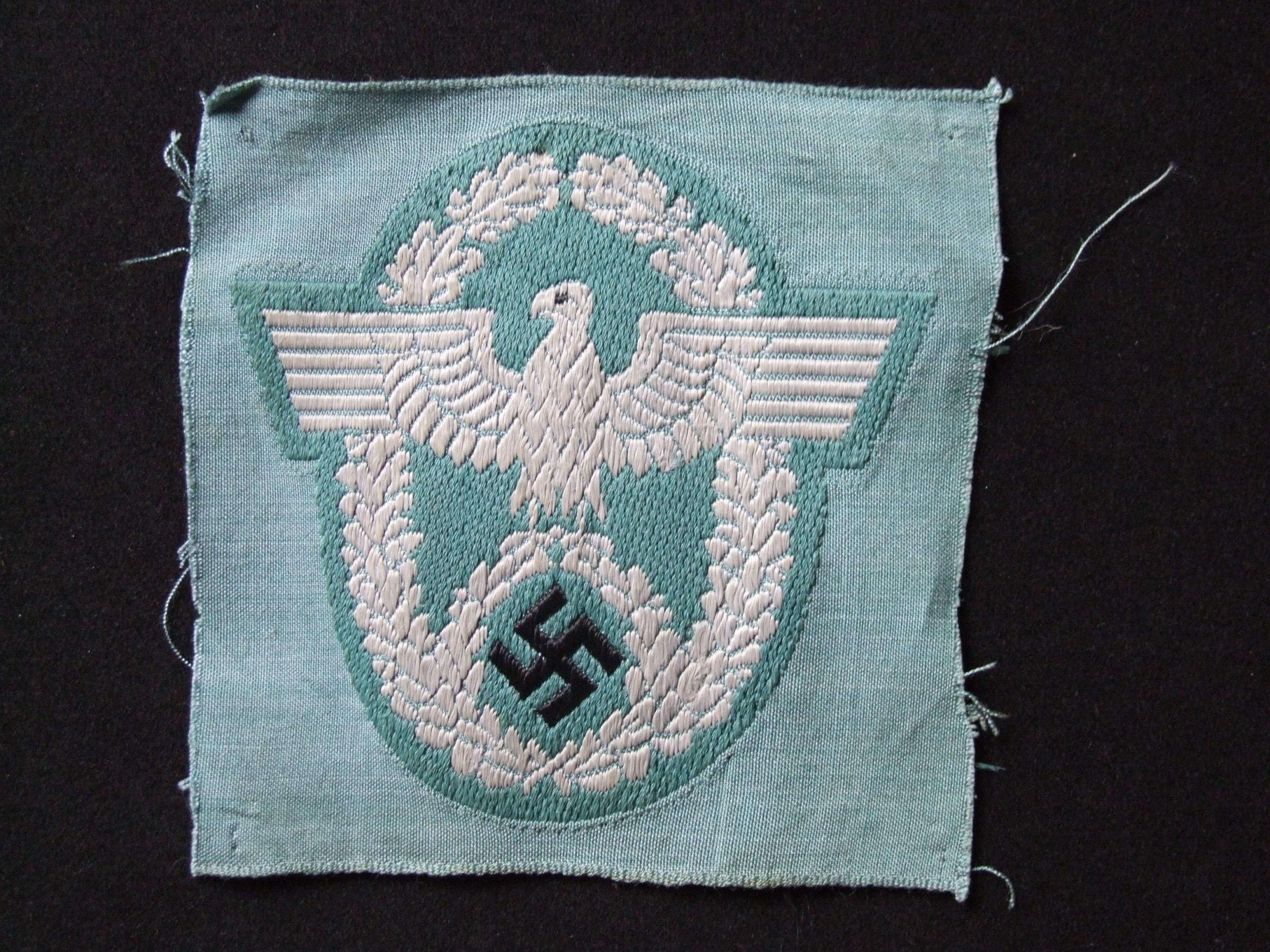 A Protection Police (Schutzpolizei) Sleeve Eagle
