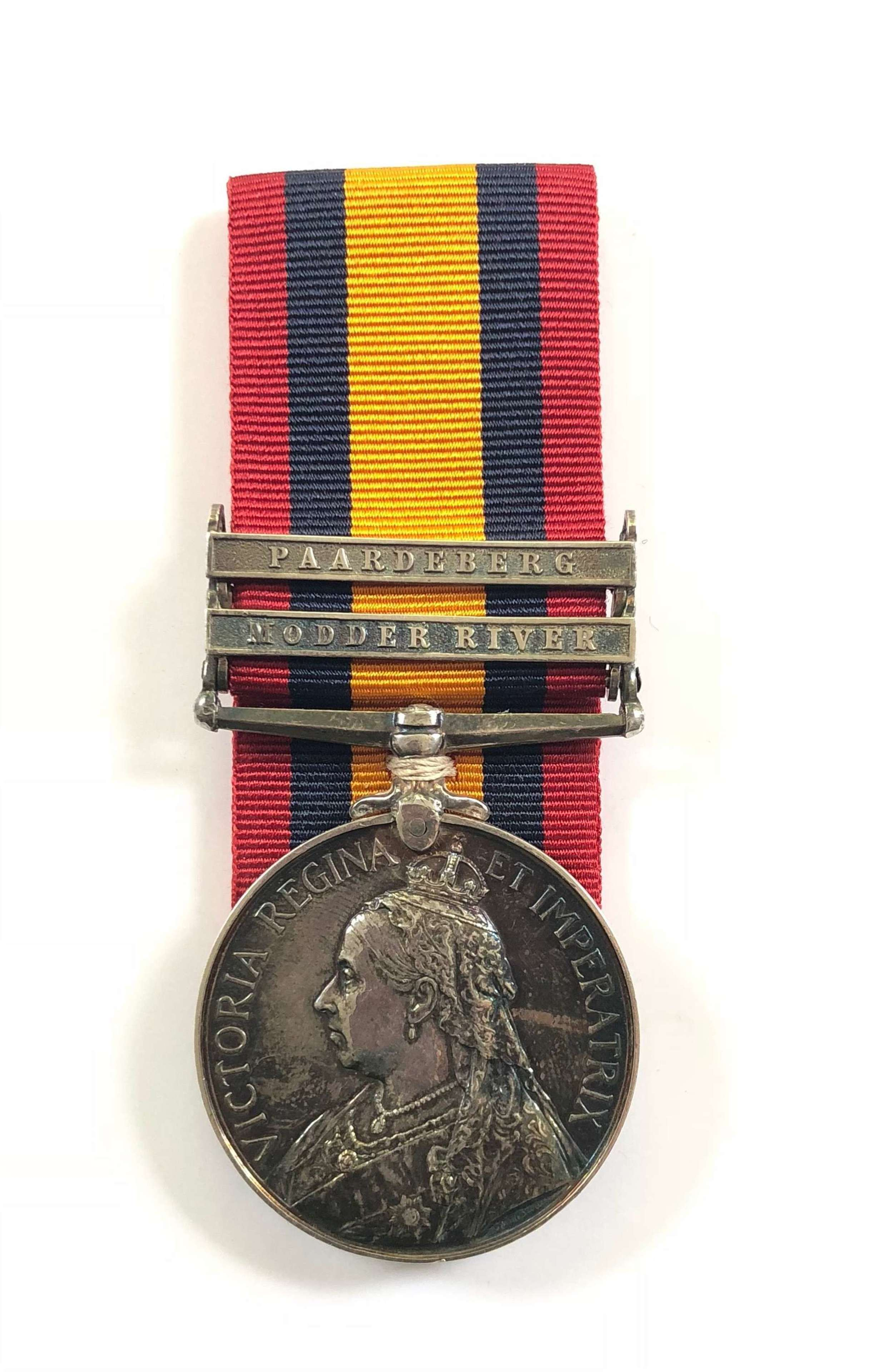 Boer War RAMC Officer's Queen's South Africa Medal Wounded