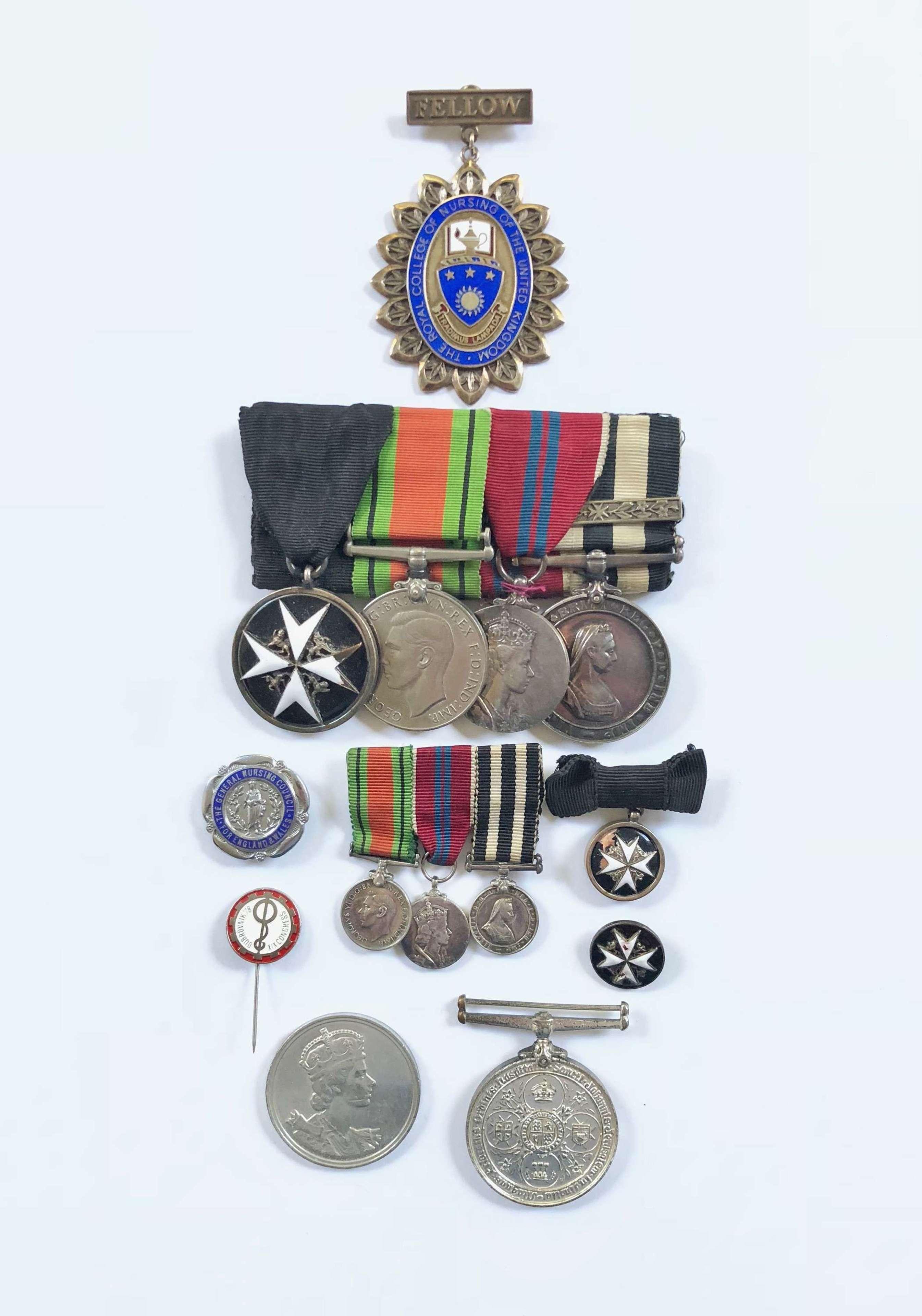 WW2 London St John Ambulance Nurse Medal Group.