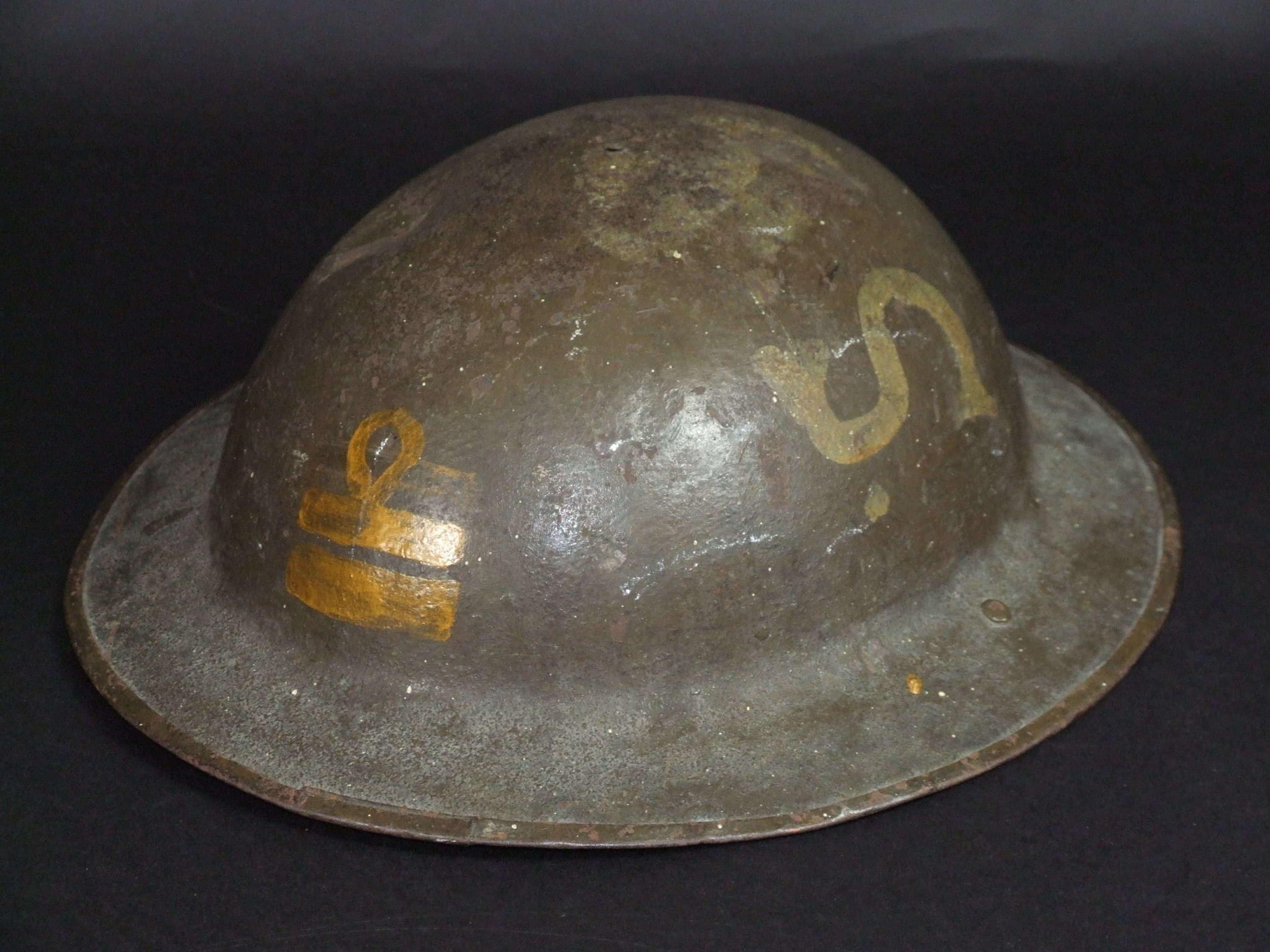WW1 Royal Naval Division British Brodie Helmet