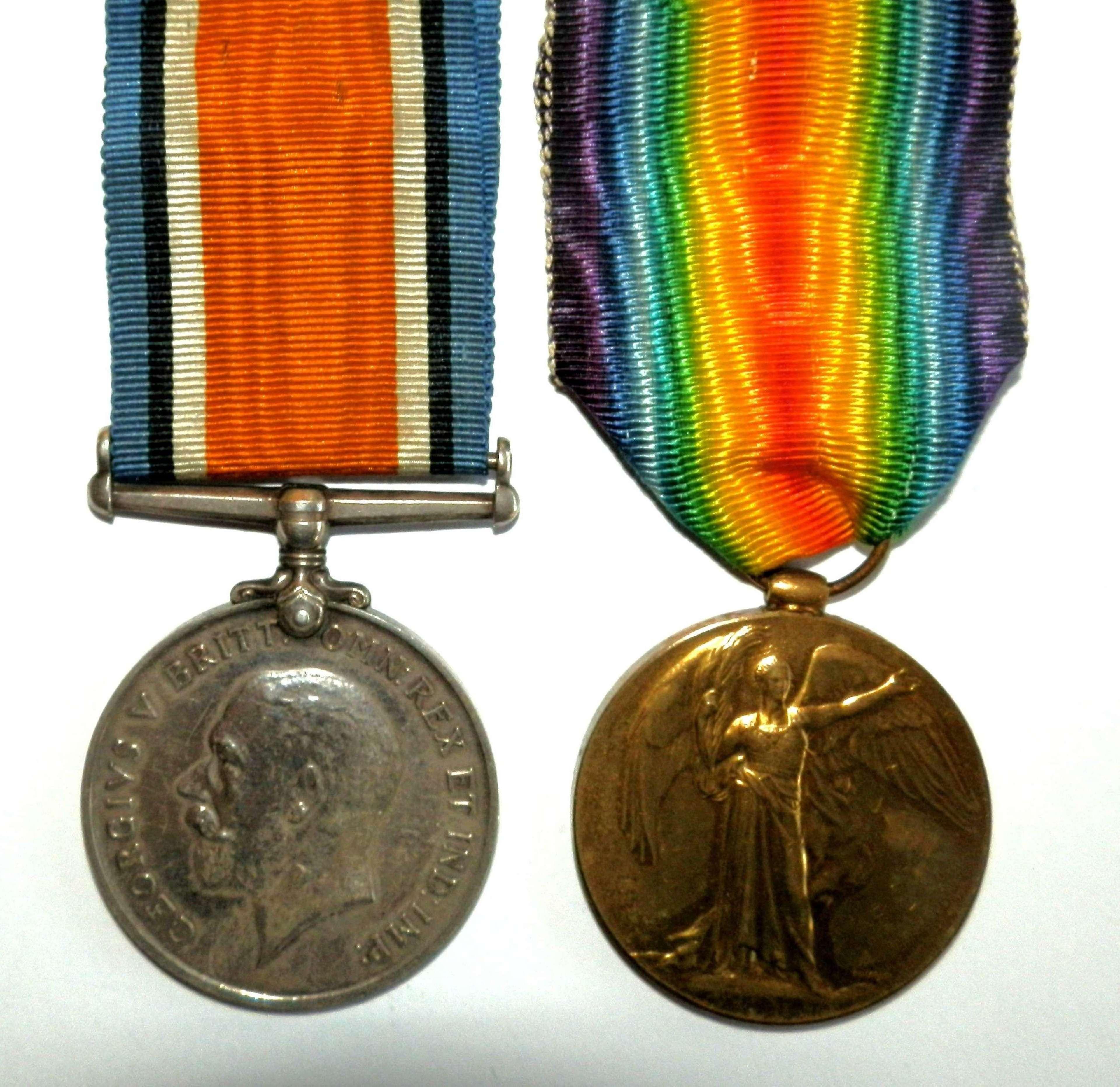 PAIR. Private Thomas Callen. 1/5th Devon Regiment.