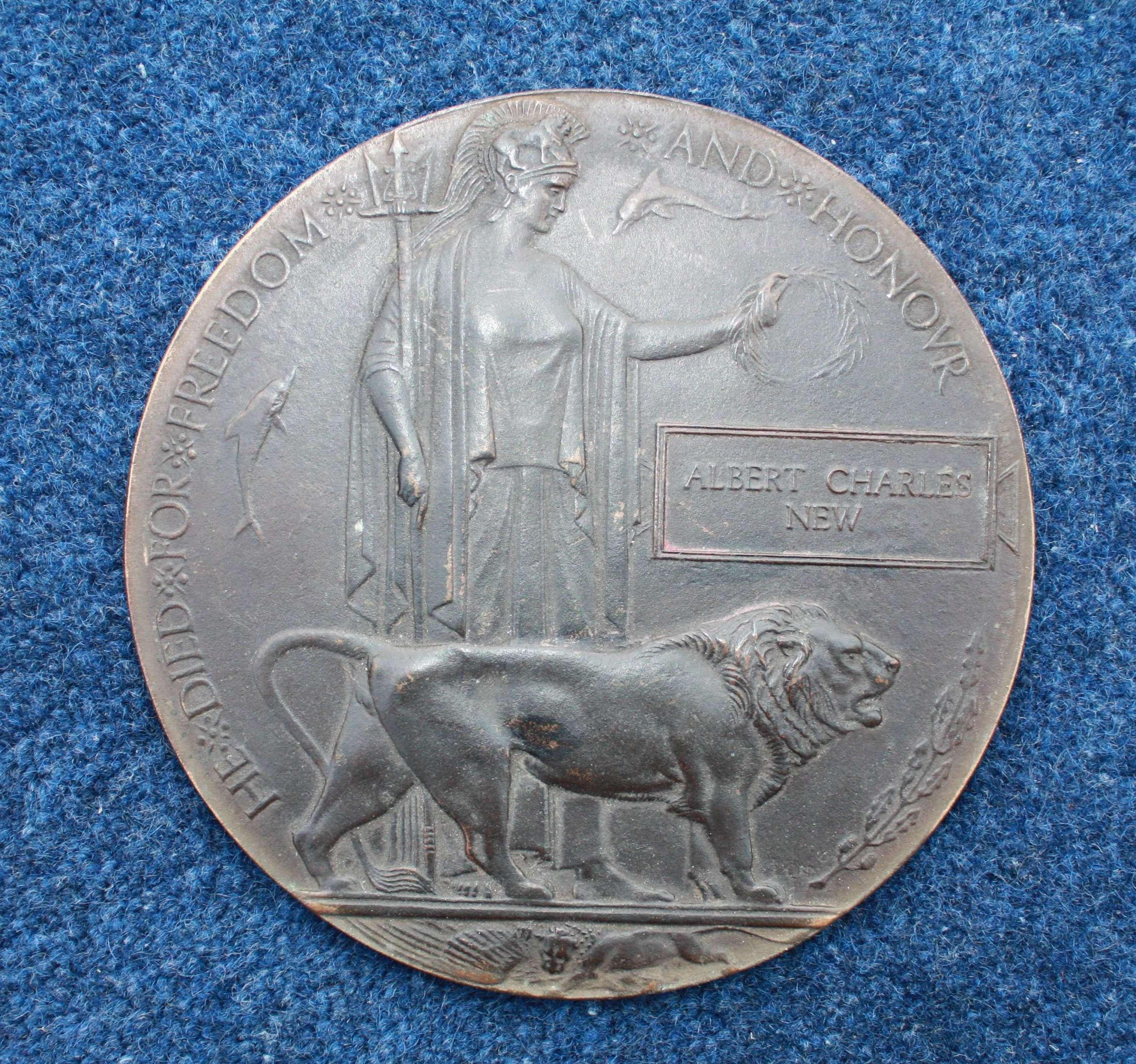 WW1 Death Plaque Royal Munster Fusiliers 1915 Gallipoli